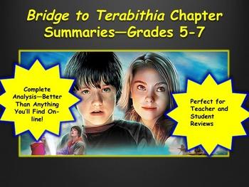 Bridge to Terabithia Chapter Summaries—Grades 5-7
