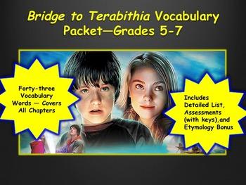 Bridge to Terabithia Vocabulary Packet—Grades 5-7