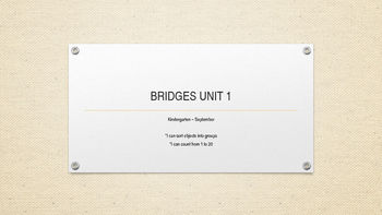 Bridges Unit 1 - Number Corner & Math