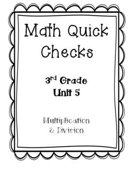 Bridges in Mathematics 3rd Grade: Unit 5 Quick Checks