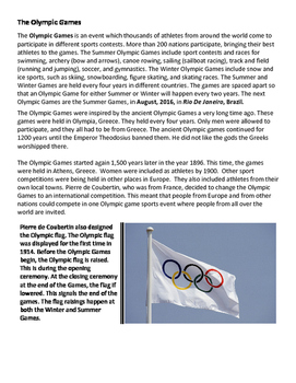 Brief Intro. Olympics