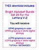 Bright Alphabet Bundle Set #4  includes Letters V-Z