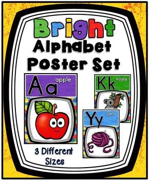 Bright Alphabet Posters Set