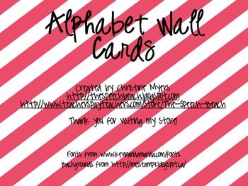 Bright Alphabet Wall Cards