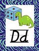 Bright Animal Print Classroom Poster Bundle with D'Nealian Font