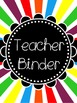 Bright Binder Cover Pages