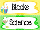 Candy themed Printable Classroom Center Signs. Class Accessories.