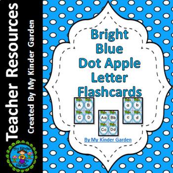 Bright Blue Dot Apple Alphabet Letter Flashcards