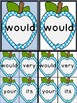 Bright Blue Dot Apple Dolch Second Grade Sight Word Flashc