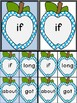 Bright Blue Dot Apple Dolch Third Grade Sight Word Flashca