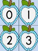 Bright Blue Dot Apple Number Flashcards 0-100