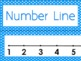 Bright Blue & White Polka Dots Number Line