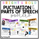 Bright & Bold Punctuation & Parts of Speech Posters