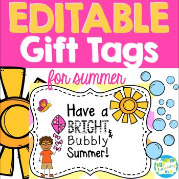 Bright & Bubbly Summer Gift Tag