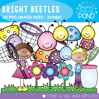 Bright Beetles - Clipart for Teachers and Teaching
