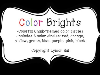 Bright Chalk Colors Poster Circles for Classroom Decor