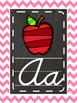 Bright Chalkboard cursive and print alphabet
