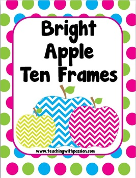 Bright Chevron Apple Ten Frames