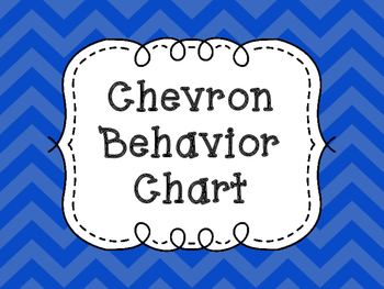 Bright Chevron Behavior Chart