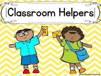 Bright Chevron Classroom Jobs / Helpers Cards {66 different jobs}