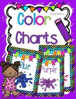Bright Chevron Color Charts