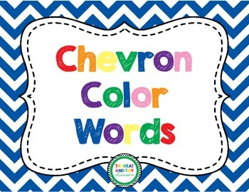 Chevron Color Word Posters