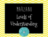 Marzano's Levels of Understanding Bright Chevron Posters