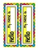 Bright Chevron Nametags for Student Desks!