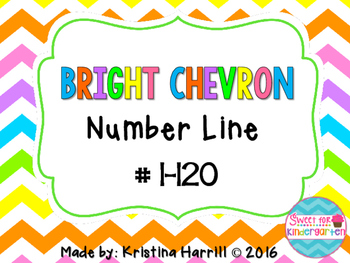 Bright Chevron Number Line