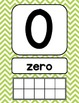 Bright Chevron Number Signs {with counting points}