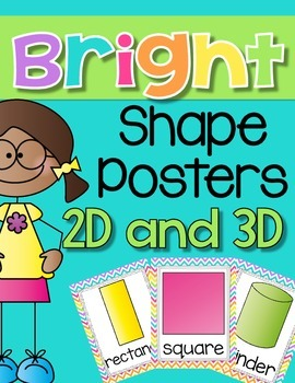 Bright Chevron Shape Posters {2D and 3D}