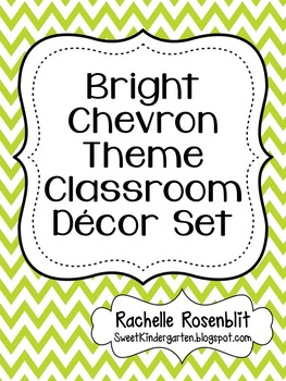 Bright Chevron Theme Classroom Decor Set