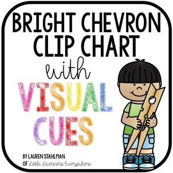 Clip Chart with Visual Cues - Bright Chevron