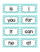 Bright Chevron Word Wall Word Cards