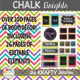 Bright Chalkboard Theme Room Decor- Back to School
