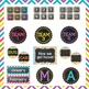 Bright Chalkboard Theme Room Decor- Back to School