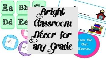 Bright Classroom Decor - Starter Pack