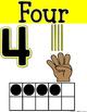 SIMPLE & CLEAN: ASL Number Posters -or- Take Home Flashcar