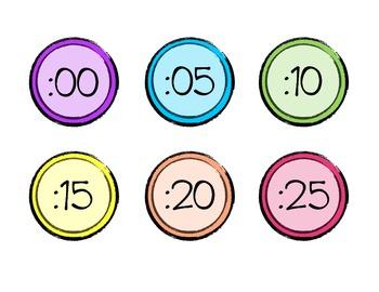 Bright Clock Labels
