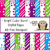 Digital Papers: Bright Color Burst
