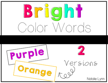 Bright Color Word Signs