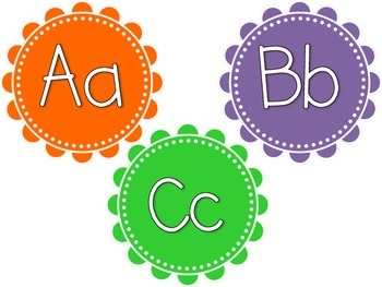 Bright Color Word Wall Headers (Orange, Green, Blue, Pink,