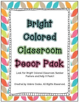 Bright Colored Classroom Decor -Pack 1