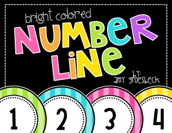 Bright Colored Number Line