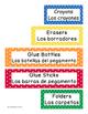 Classroom Labels - English/Spanish Bright Colored Polka Dot