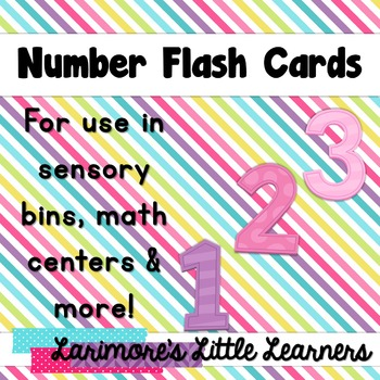 Bright Colorful Number Flash Cards