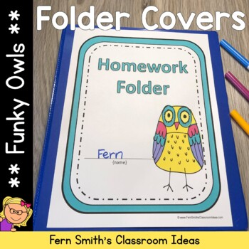 Binder Covers - Bright Colorful Owls