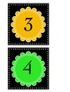 Bright Colors 1-20 number cards