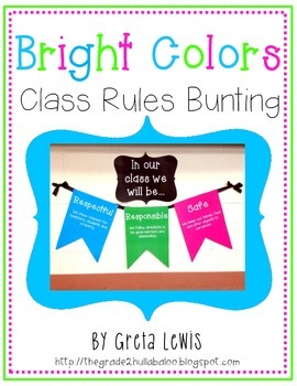 Bright Colors Class Rules Bunting