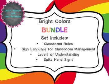 Bright Colors Music Decor Bundle